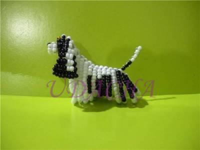 Эксклюзивные ошейники ручной работы - Статуэтки собак из бисера Figurines Dog Bead.